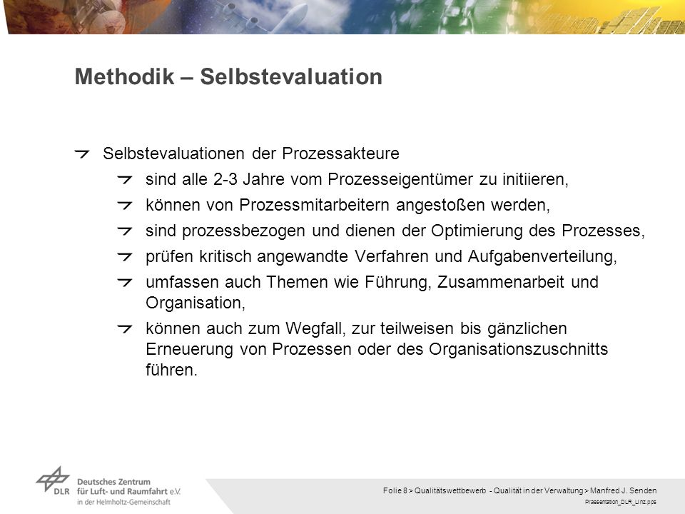 Methodik – Selbstevaluation