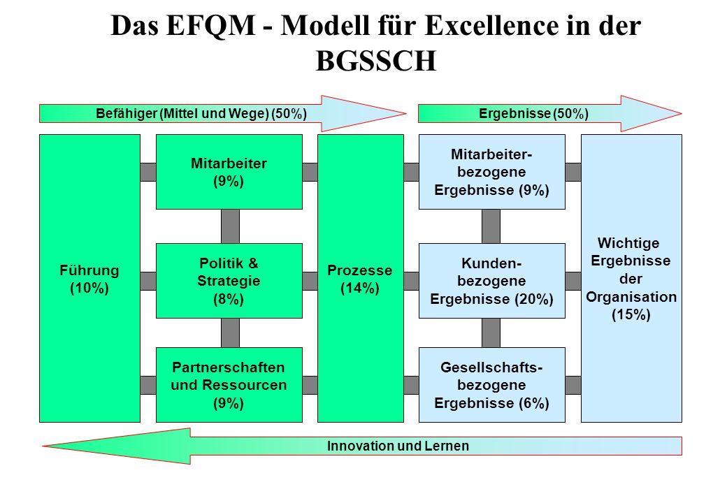 Das EFQM - Modell für Excellence in der BGSSCH