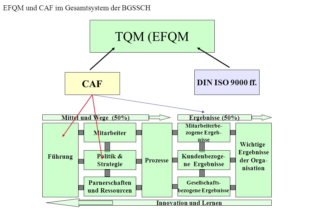 EFQM und CAF im Gesamtsystem der BGSSCH