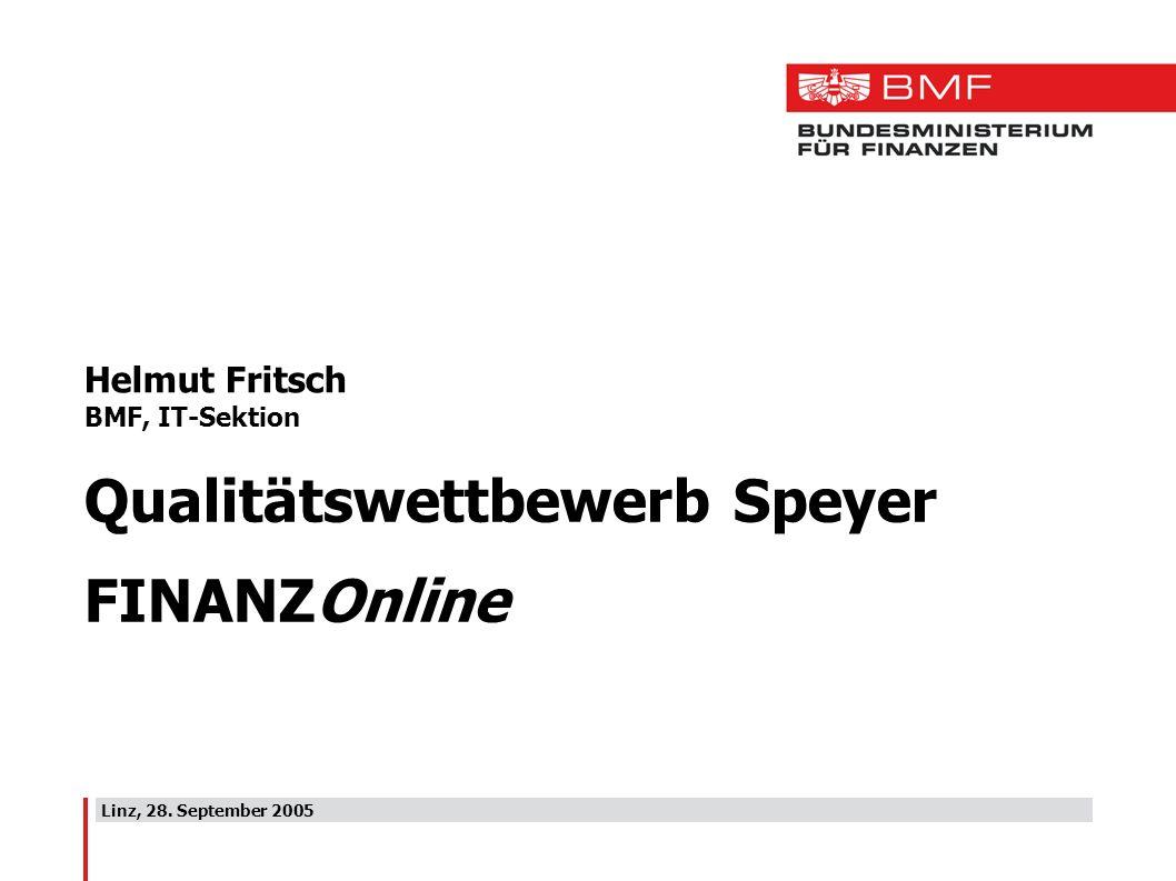 Qualitätswettbewerb Speyer FINANZOnline
