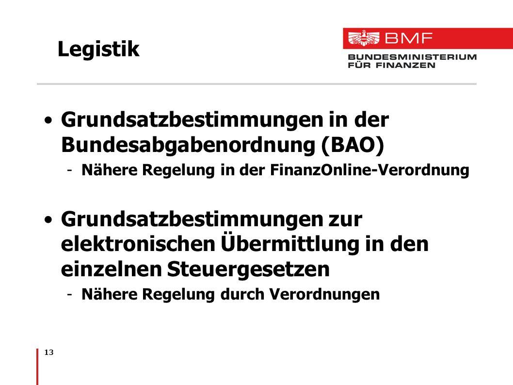 Grundsatzbestimmungen in der Bundesabgabenordnung (BAO)
