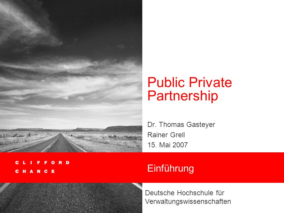 Public Private Partnership
