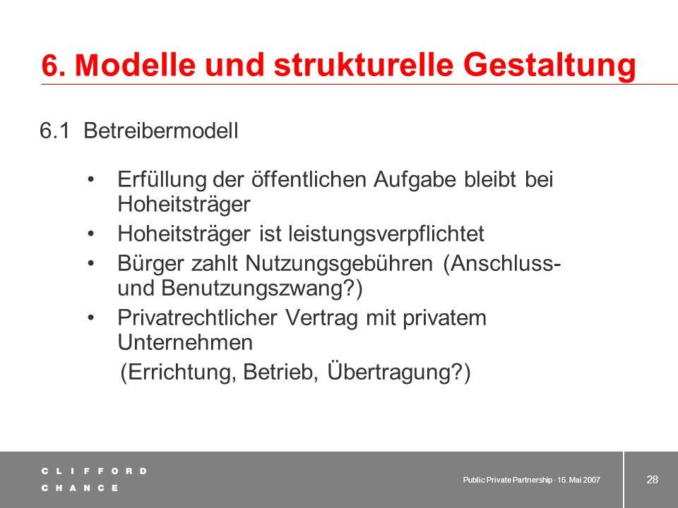 6. Modelle und strukturelle Gestaltung
