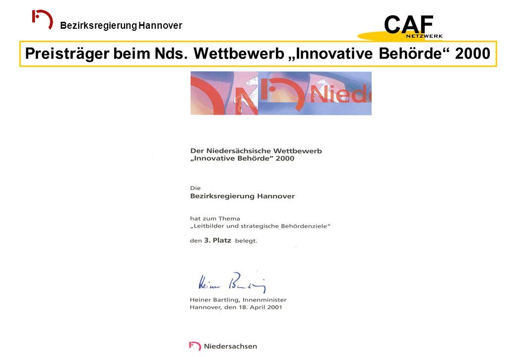 """Preisträger beim Nds. Wettbewerb """"Innovative Behörde 2000"""