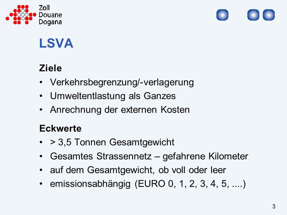 LSVA Ziele Verkehrsbegrenzung/-verlagerung Umweltentlastung als Ganzes