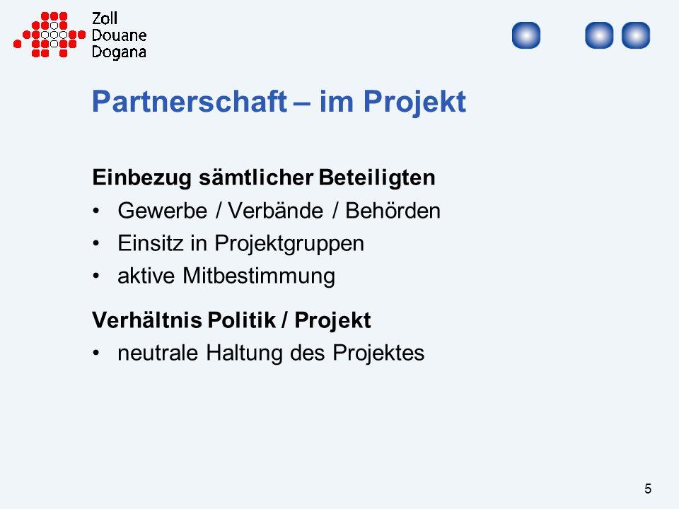 Partnerschaft – im Projekt