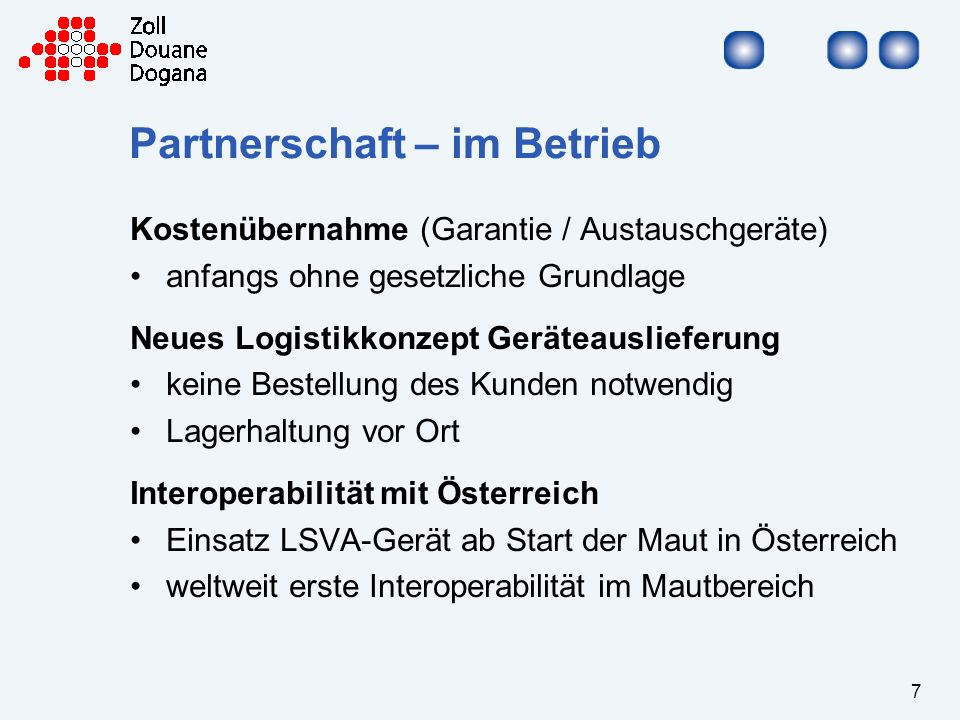 Partnerschaft – im Betrieb