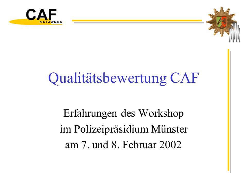 Qualitätsbewertung CAF