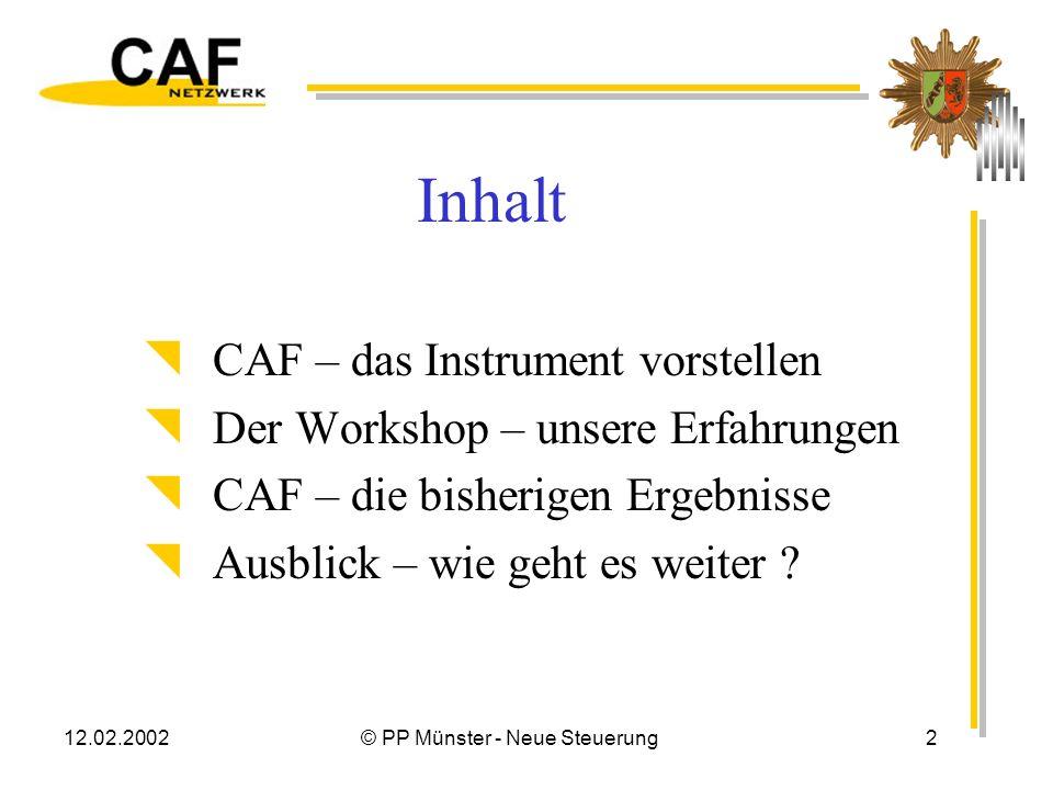 Erfahrungsbericht CAF
