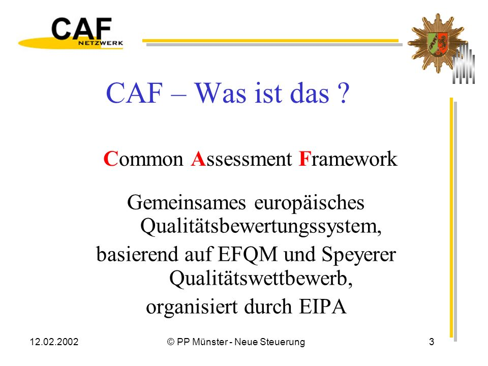 CAF – Was ist das Common Assessment Framework