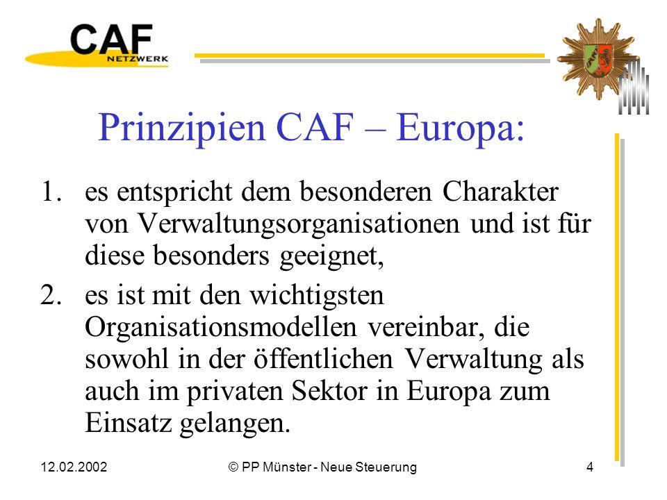 Prinzipien CAF – Europa: