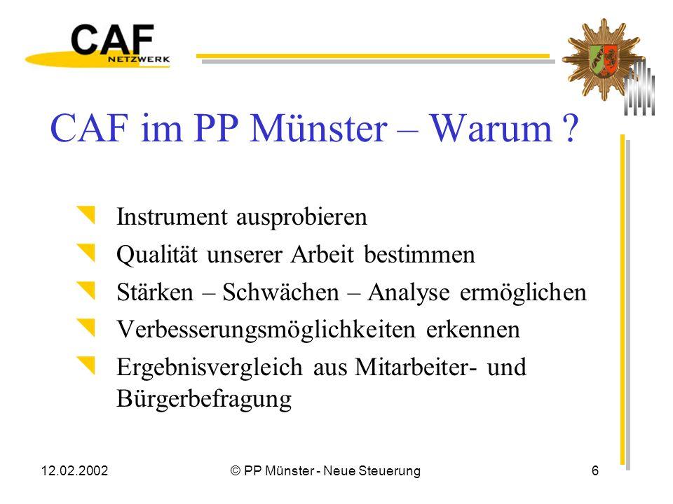 CAF im PP Münster – Warum