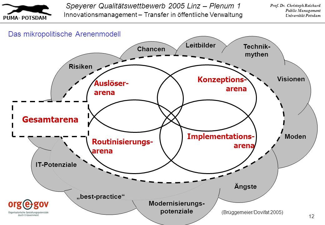 Das mikropolitische Arenenmodell