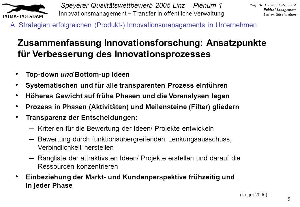 A. Strategien erfolgreichen (Produkt-) Innovationsmanagements in Unternehmen