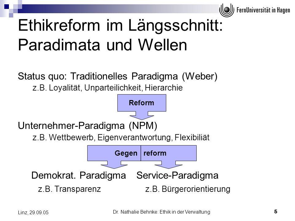 Ethikreform im Längsschnitt: Paradimata und Wellen