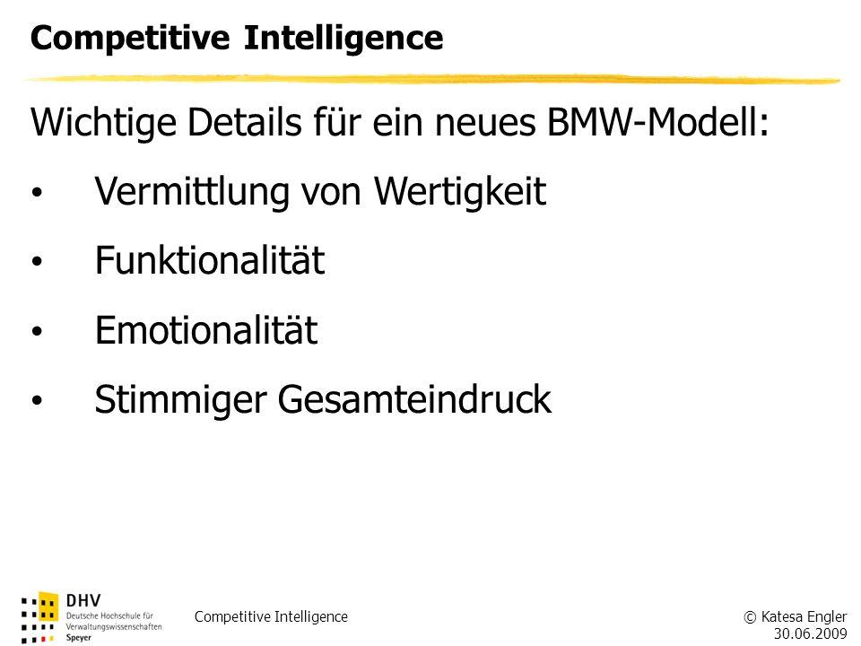 Wichtige Details für ein neues BMW-Modell: Vermittlung von Wertigkeit