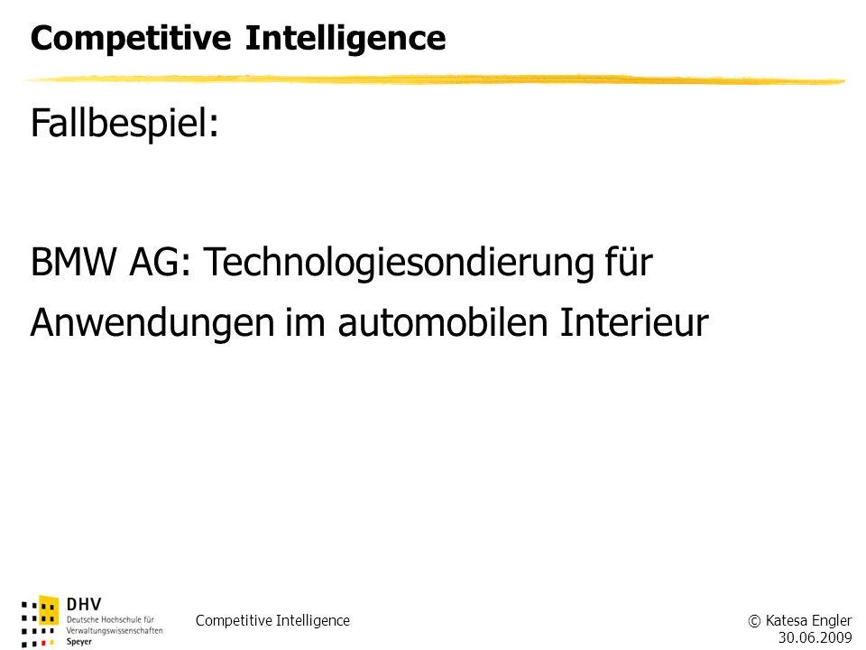 BMW AG: Technologiesondierung für Anwendungen im automobilen Interieur