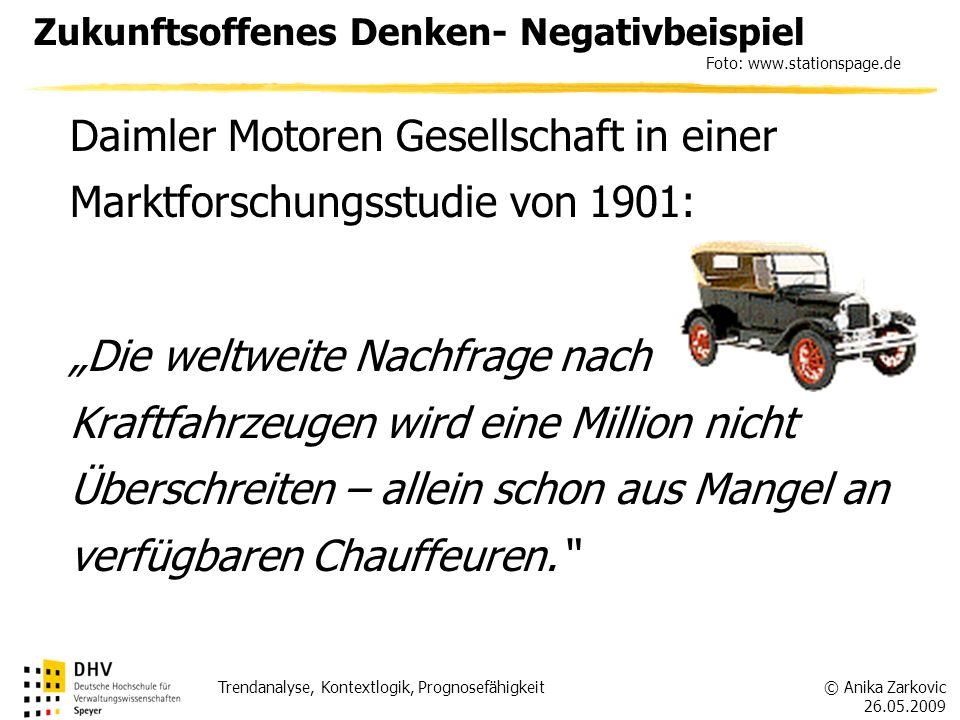 Zukunftsoffenes Denken- Negativbeispiel Foto: www.stationspage.de