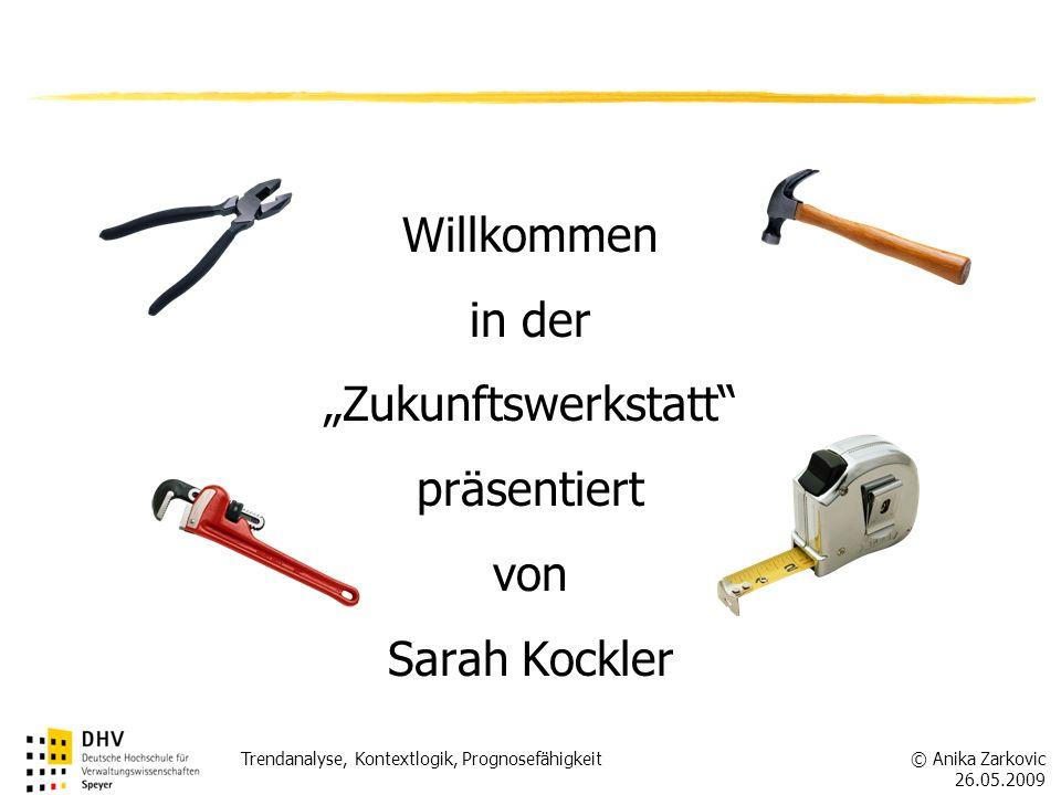 """Willkommen in der """"Zukunftswerkstatt präsentiert von Sarah Kockler"""
