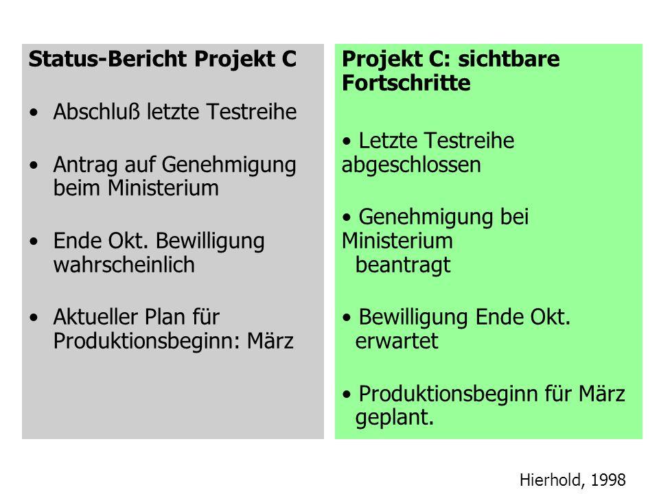 Status-Bericht Projekt C
