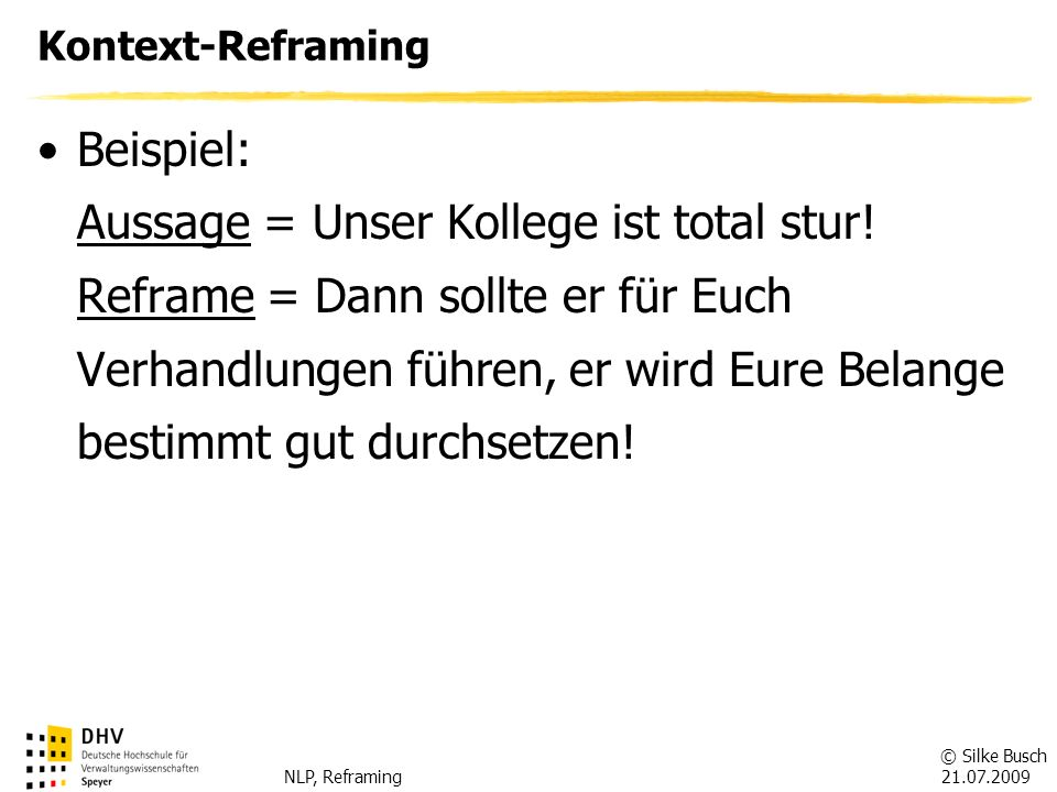 Kontext-Reframing