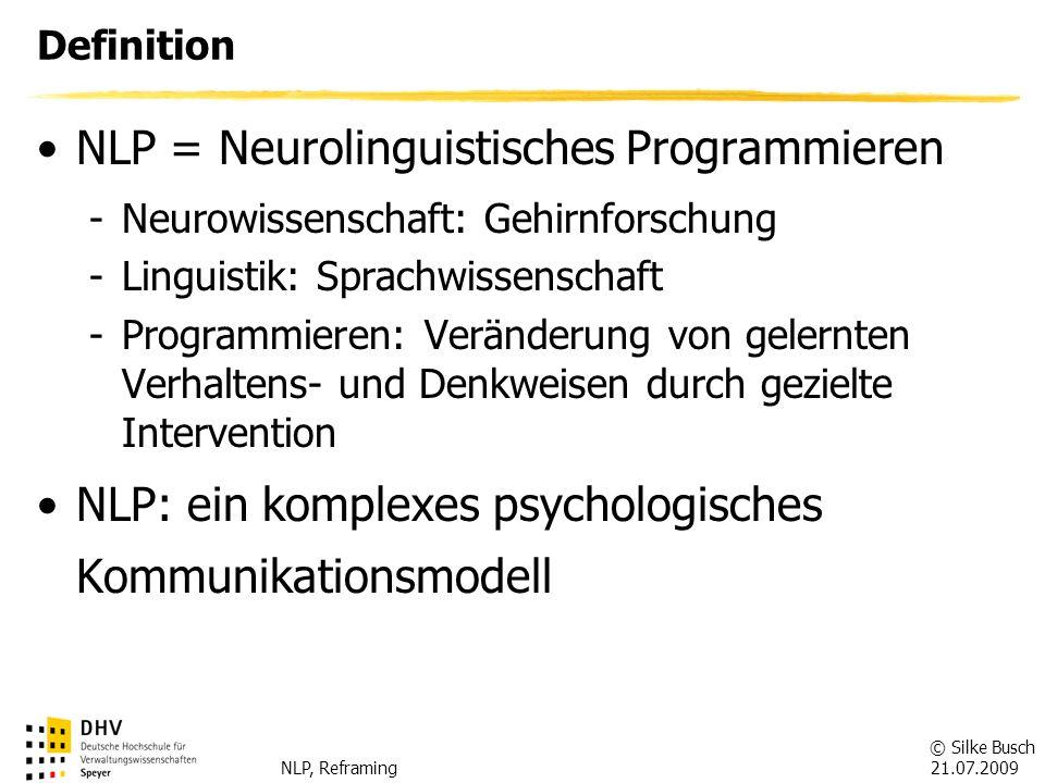 NLP = Neurolinguistisches Programmieren