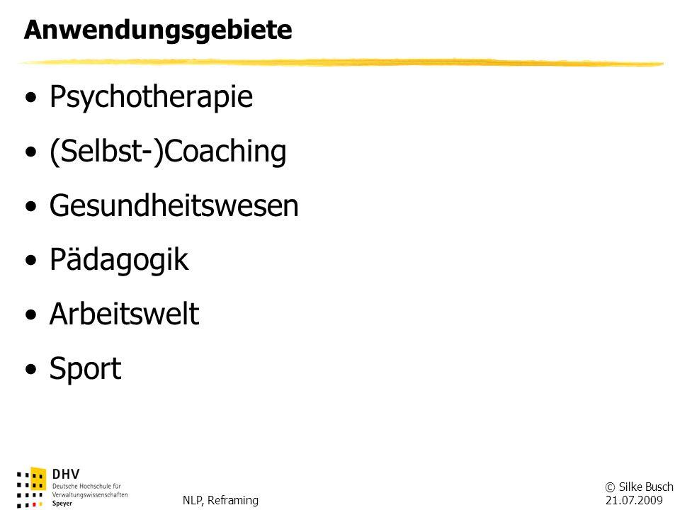 Psychotherapie (Selbst-)Coaching Gesundheitswesen Pädagogik