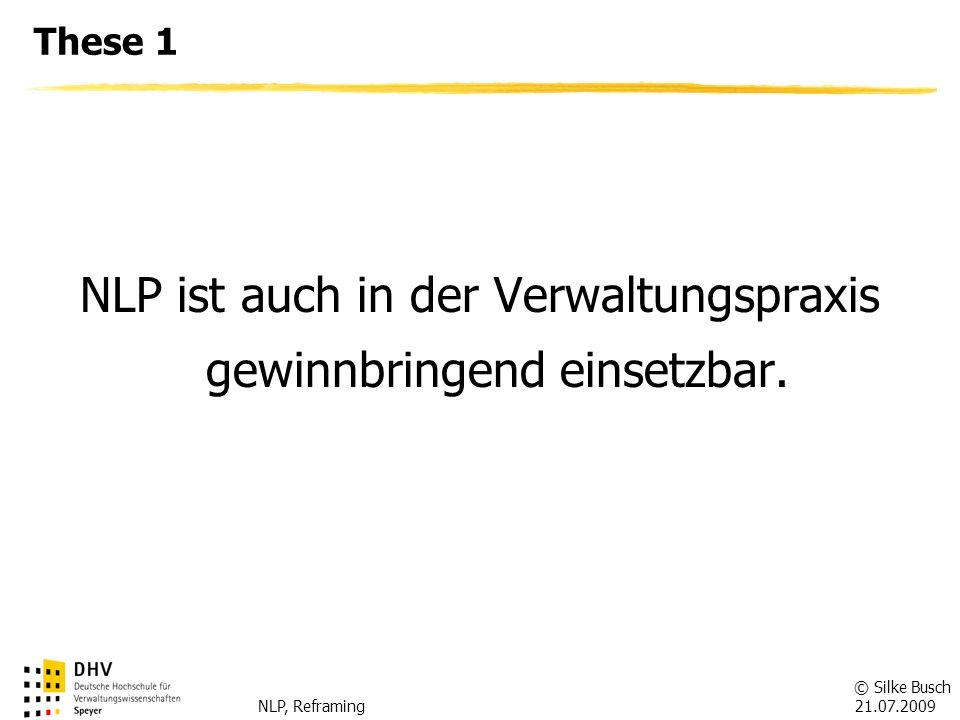 NLP ist auch in der Verwaltungspraxis gewinnbringend einsetzbar.