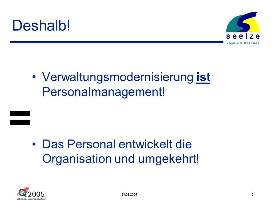= Deshalb! Verwaltungsmodernisierung ist Personalmanagement!