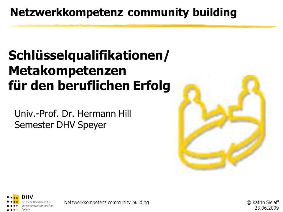 Netzwerkkompetenz community building
