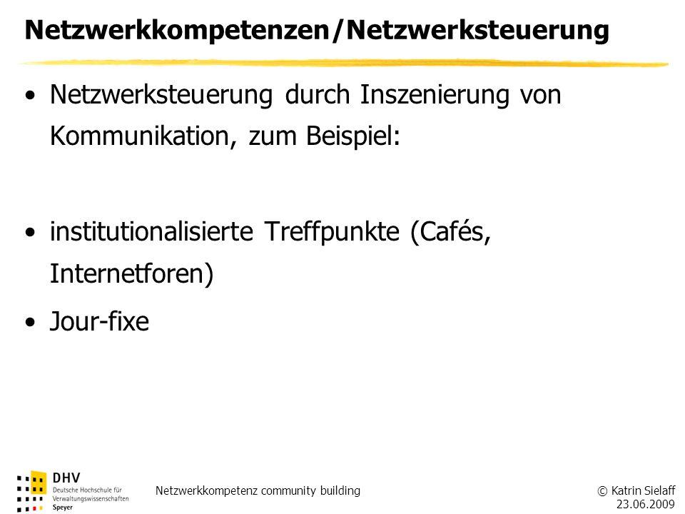 Netzwerkkompetenzen/Netzwerksteuerung