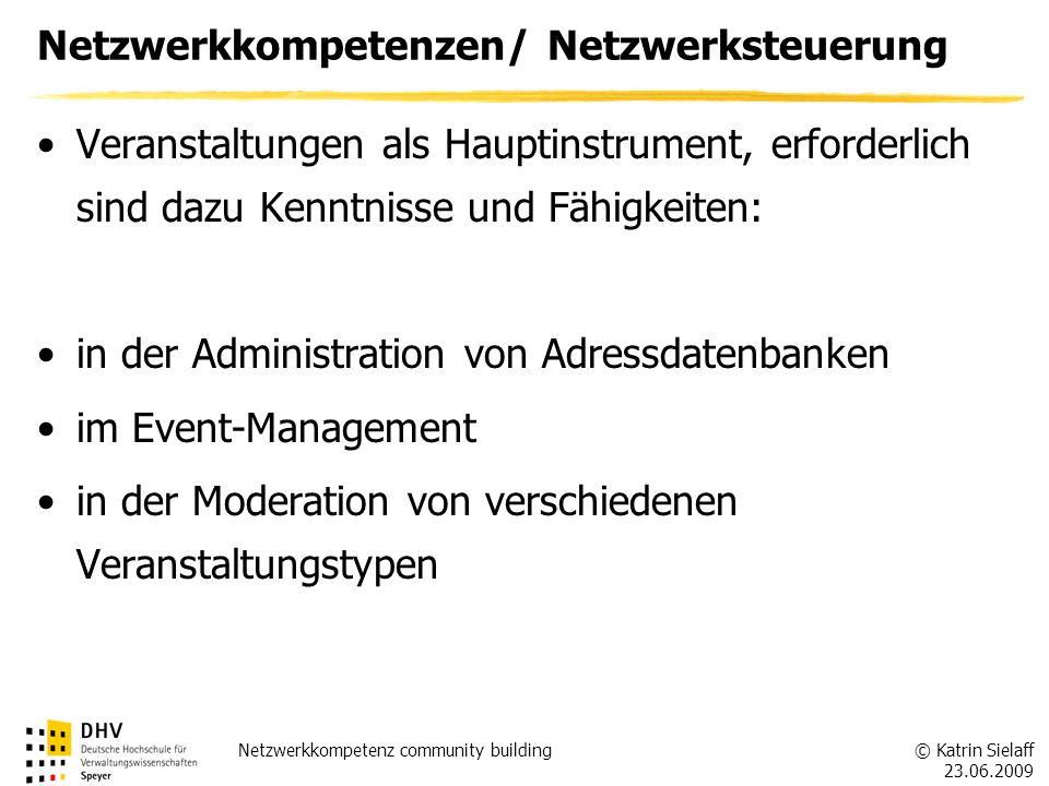 Netzwerkkompetenzen/ Netzwerksteuerung