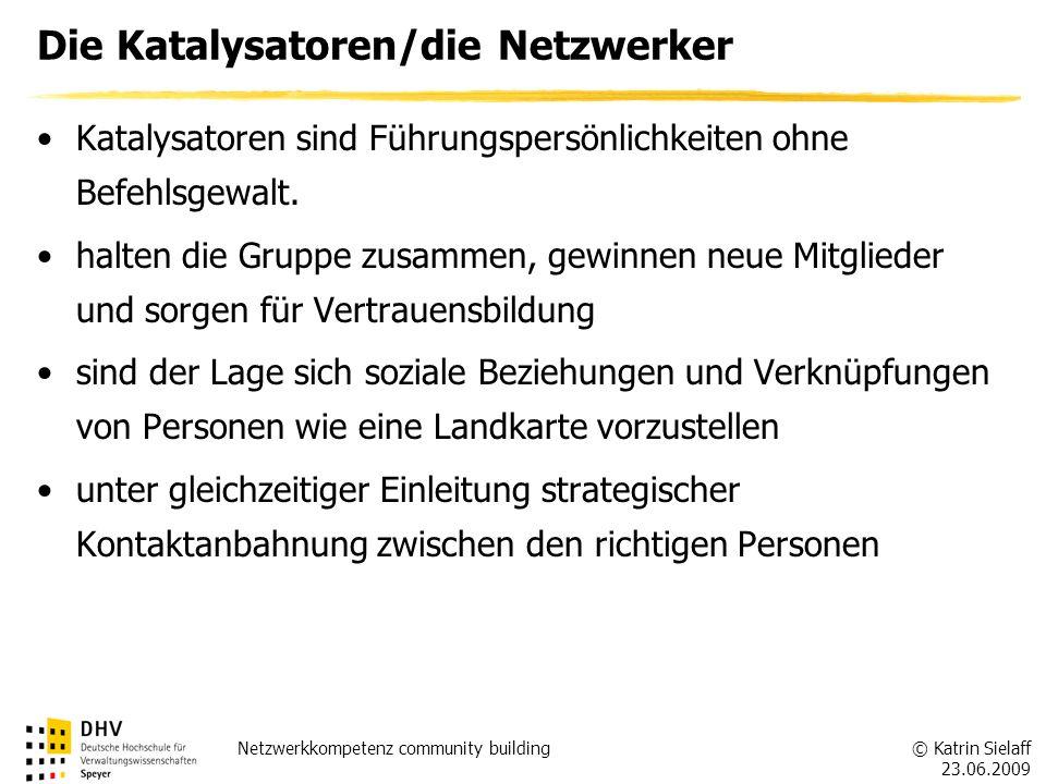 Die Katalysatoren/die Netzwerker