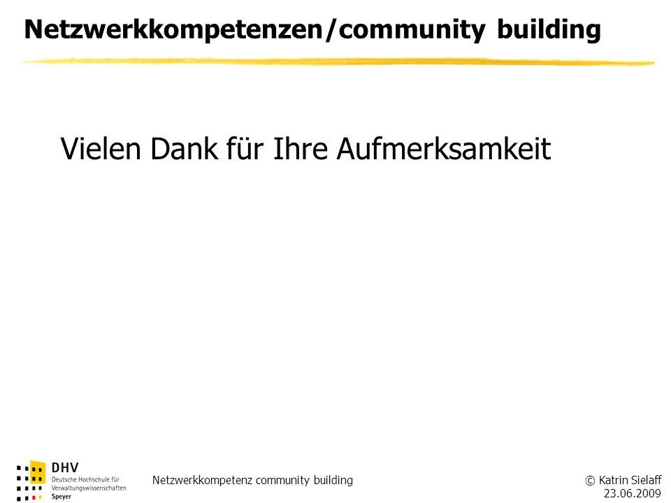 Netzwerkkompetenzen/community building