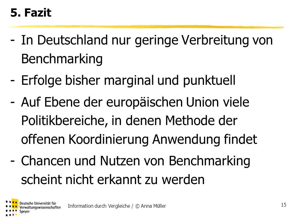 In Deutschland nur geringe Verbreitung von Benchmarking