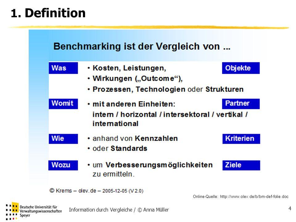 1. Definition Information durch Vergleiche / © Anna Müller