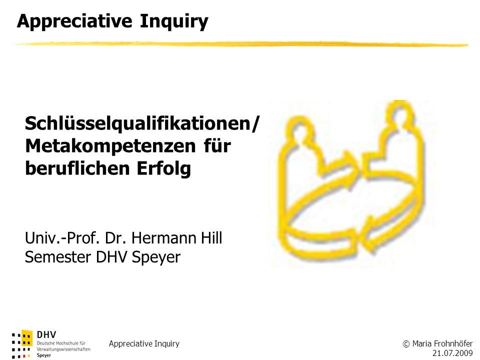 Schlüsselqualifikationen/Metakompetenzen für beruflichen Erfolg