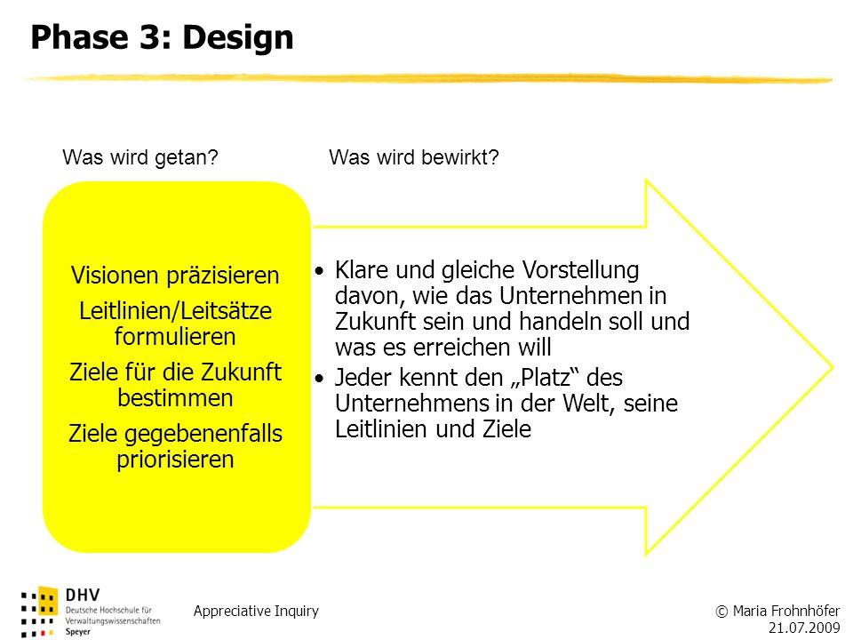 Phase 3: Design Visionen präzisieren Leitlinien/Leitsätze formulieren