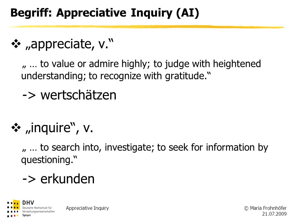 Begriff: Appreciative Inquiry (AI)