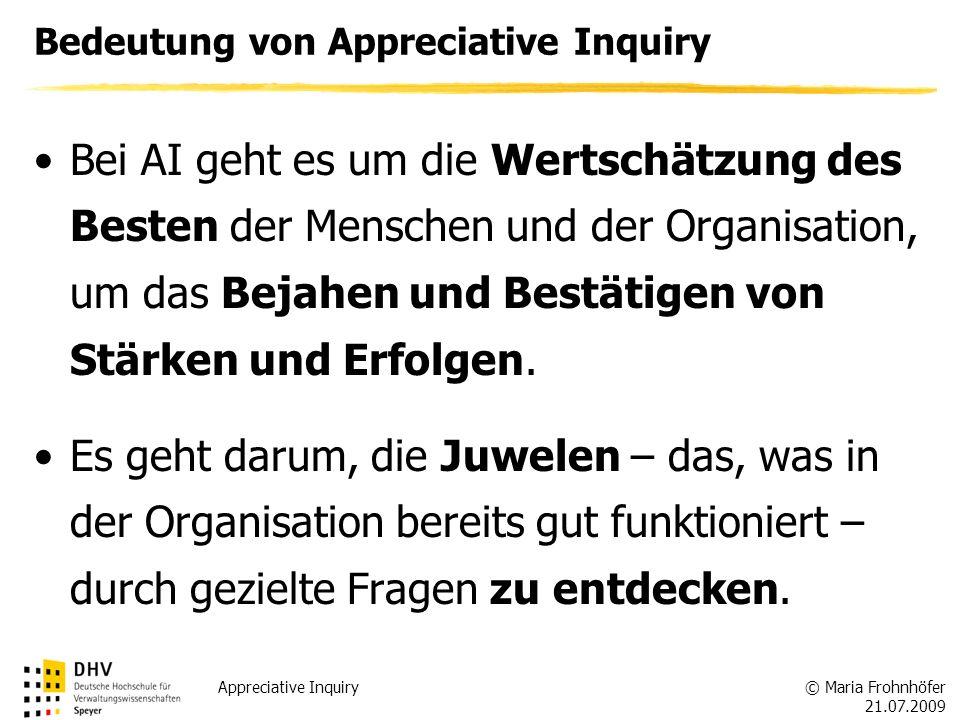 Bedeutung von Appreciative Inquiry
