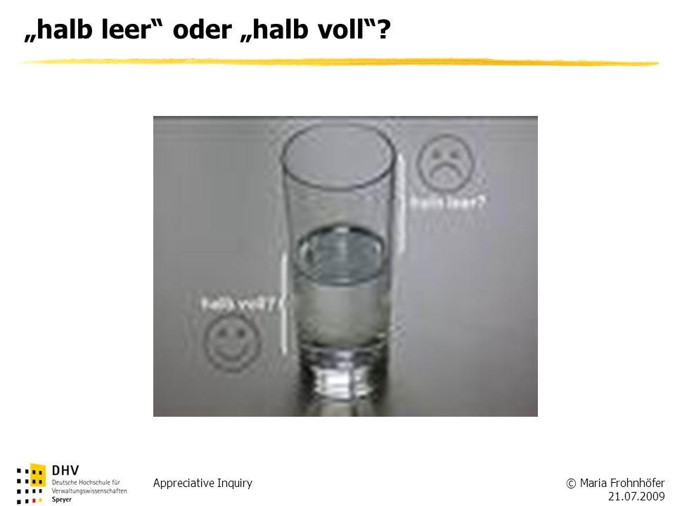 """""""halb leer oder """"halb voll"""