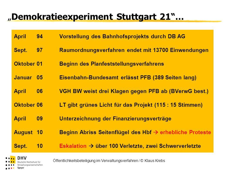 """""""Demokratieexperiment Stuttgart 21 …"""