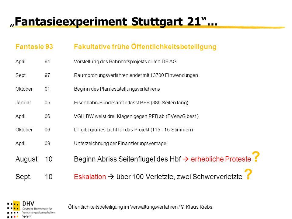 """Fantasieexperiment Stuttgart 21 …"