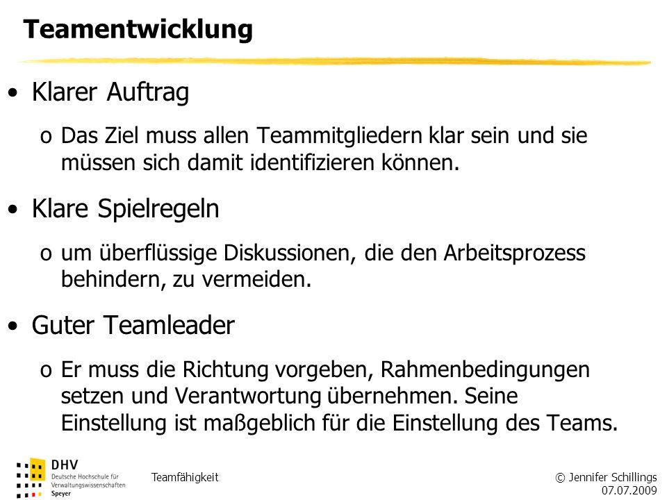 Teamentwicklung Klarer Auftrag Klare Spielregeln Guter Teamleader