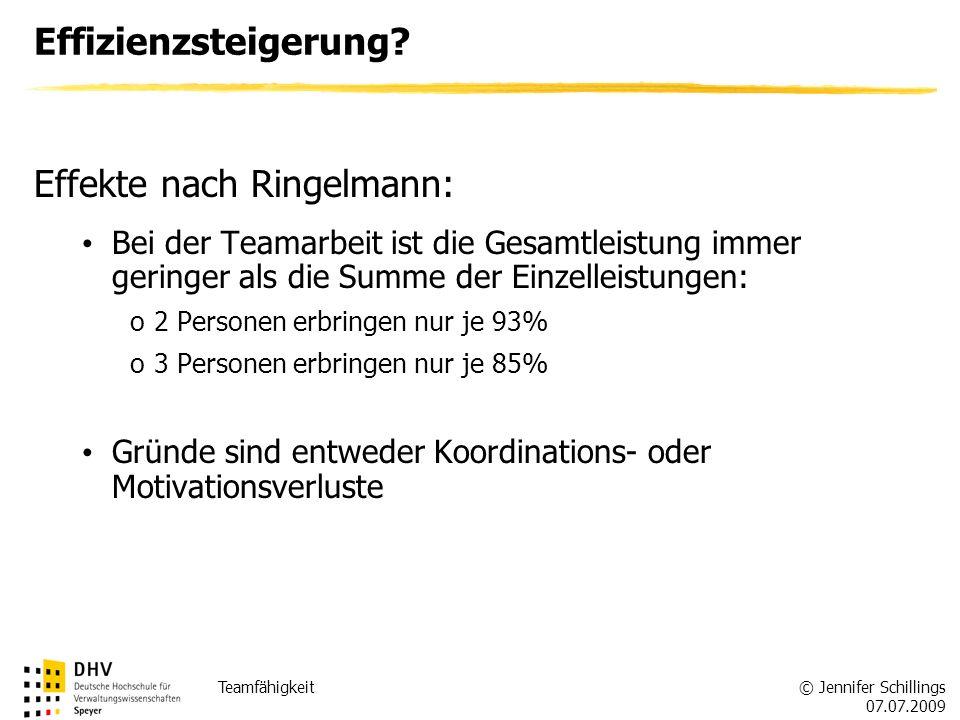 Effekte nach Ringelmann: