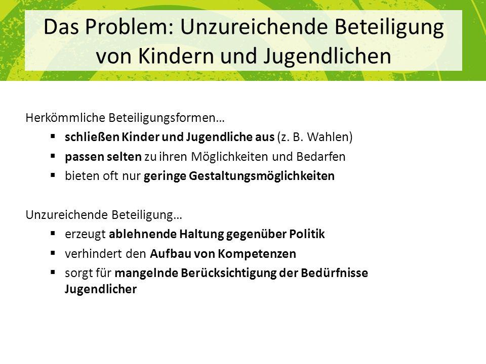 Das Problem: Unzureichende Beteiligung von Kindern und Jugendlichen