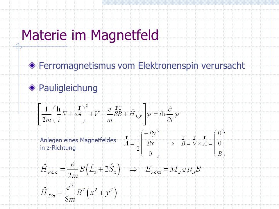 Materie im Magnetfeld Ferromagnetismus vom Elektronenspin verursacht