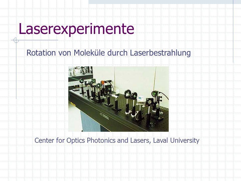 Laserexperimente Rotation von Moleküle durch Laserbestrahlung