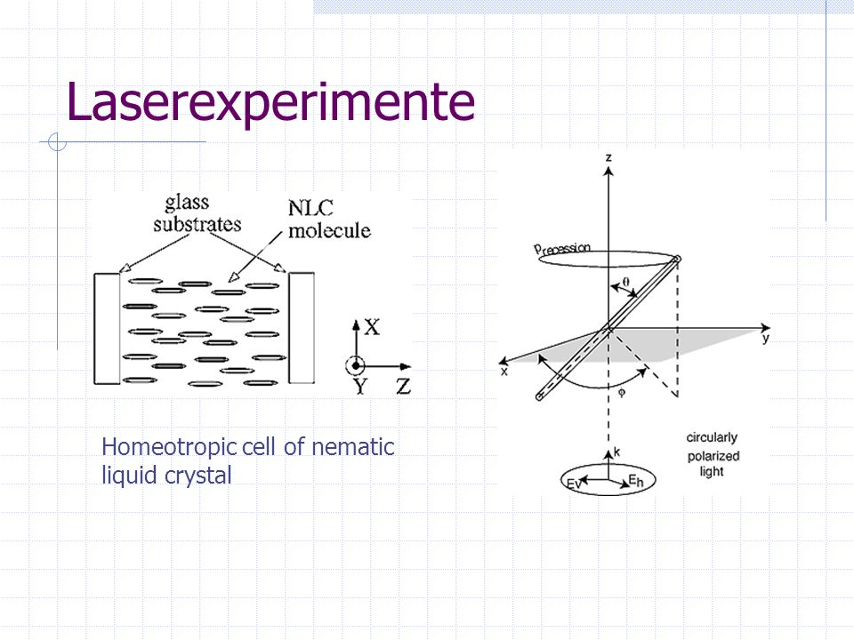 Laserexperimente Homeotropic cell of nematic liquid crystal