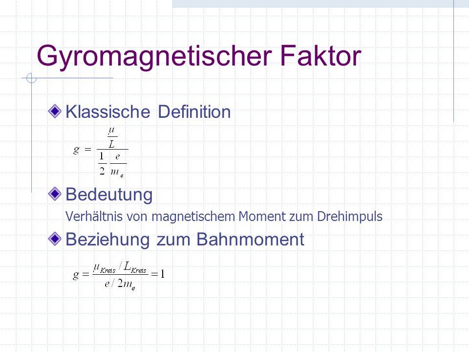 Gyromagnetischer Faktor